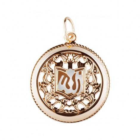 Золотая мусульманская подвеска