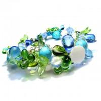 Колье сборное из натуральных цветных камней