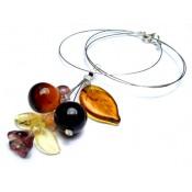 Кулон ожерелье с цветными вставками