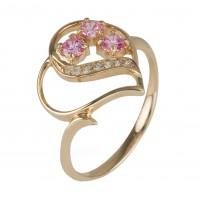 Кольцо с кристаллами Swarovski