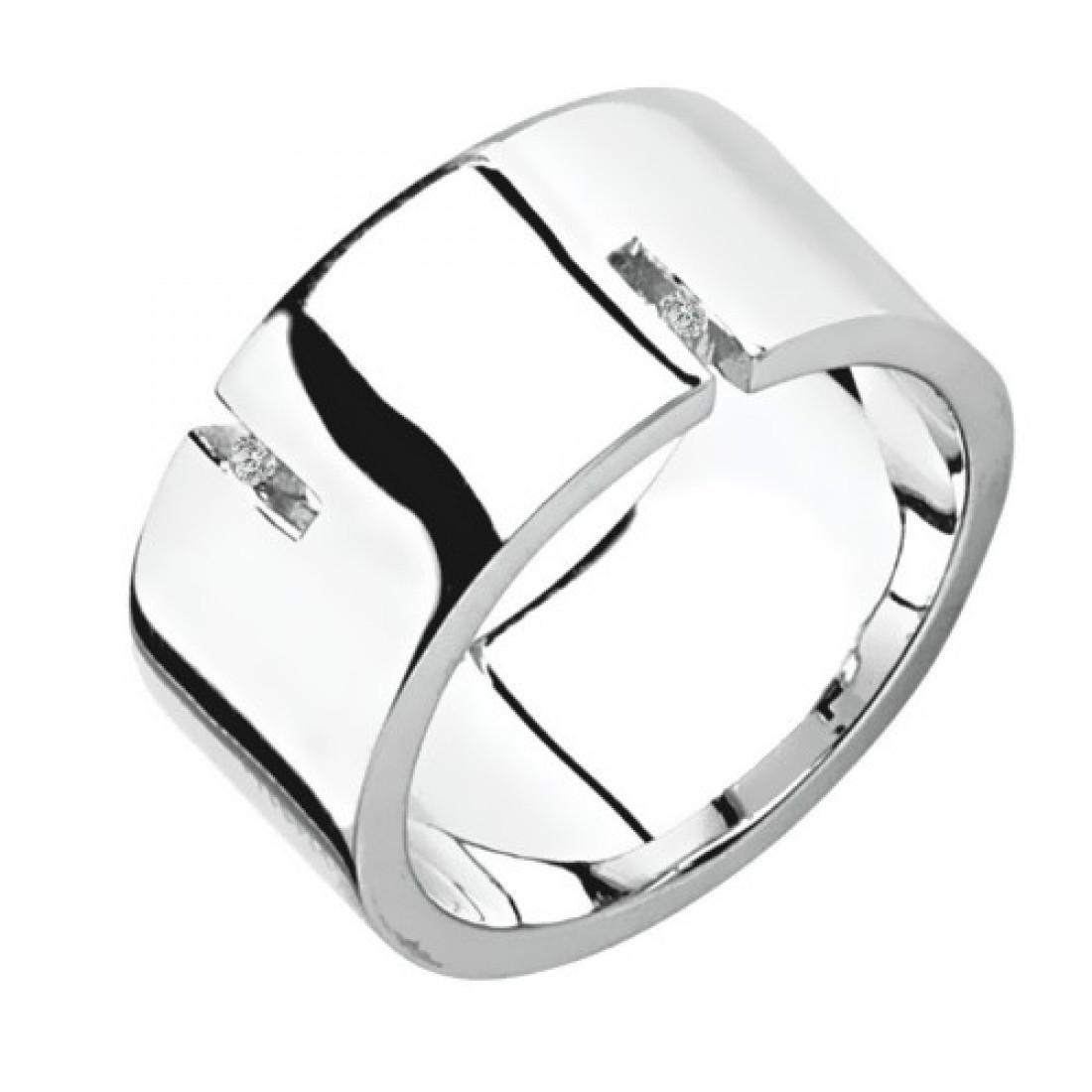 Мужское серебряное кольцо с бриллиантом Hot Diamonds