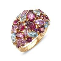 """Кольцо с полудрагоценными камнями """"Royal Mix"""""""