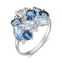 """Серебряное кольцо с полудрагоценными камнями """"Royal Mix"""""""