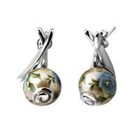 Серебряные серьги Joli с акрилом