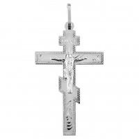 Серебряный штампованный крест
