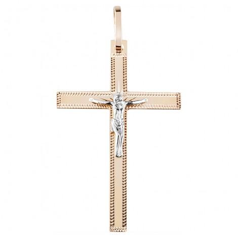 Крест штампованный с родием