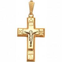 Подвеска крест пустотелый