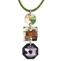 Серебряный кулон с кристаллами Сваровски