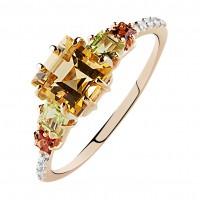 """Кольцо с полудрагоценными камнями """"Marmelade"""""""