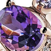 Коллекция Super Light - Кольца и серьги с аметистами в серебре и золоте
