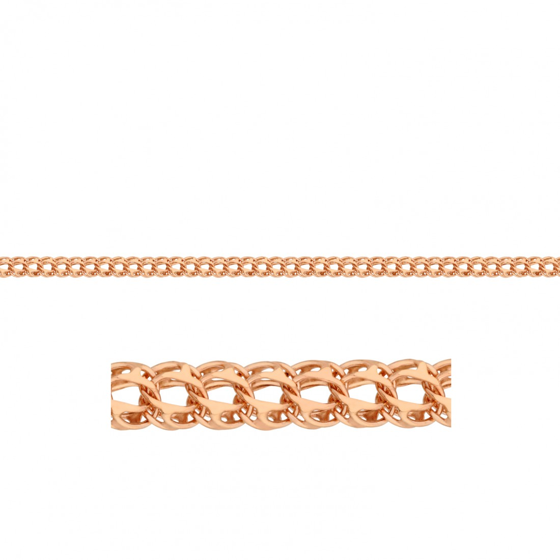 Плетение золотого браслета питон