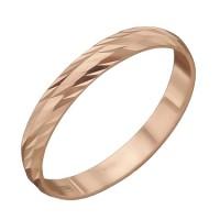 Обручальное кольцо с алмазной насечкой