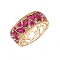"Кольцо с рубинами и бриллиантами ""Марокко"""