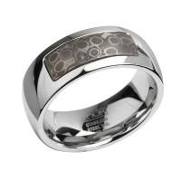 Мужское кольцо из стали Zoom